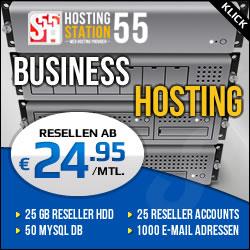 HOSTING STATION55 - Reseller Webhosting Tarife ab 24.95 € im Monat