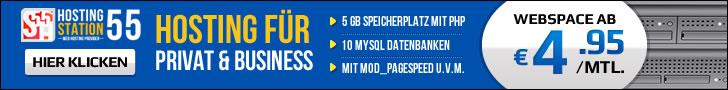 HOSTING STATION55 - Webhosting Tarife ab 4.95 € im Monat