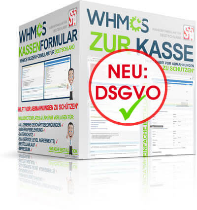 WHMCS Zur Kasse Formular
